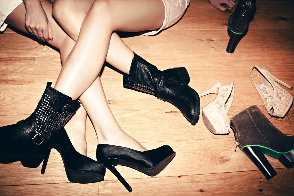 Kvindeben og sko